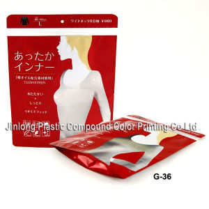 Stand up Plastic Garment Packaging Zipper Bag with Hanger pictures & photos