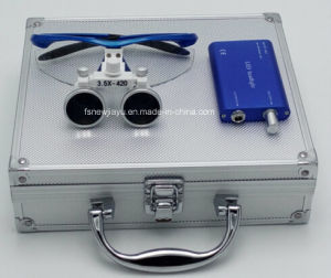 2.5X 3.5X Surgical Dental Loupe with Headlight