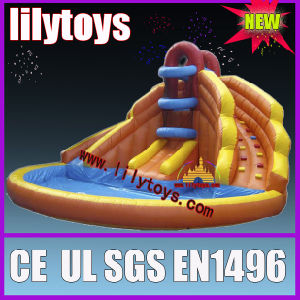 Commercial inflatable water slide with pool for summer pictures & photos