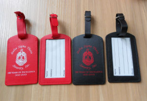 Soft Leather with Custom Logo Luggage Tags pictures & photos