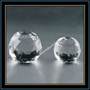Transparent Faceted Blank Crystal Ball pictures & photos