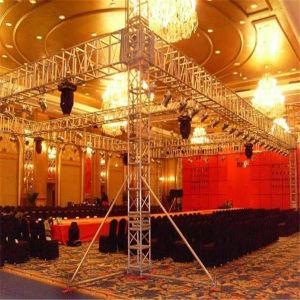 Spigot Exhibition Aluminium Lighting Stage Trade Show Glass Plywood Platform DJ Concert Truss pictures & photos