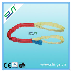 5t*10m Polyester Double Eye Round Sling Safety Factor 6: 1 Sln Ce GS pictures & photos