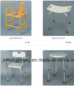 Wall Mounted Adjustable Shower Chair with Aluminum Legs pictures & photos
