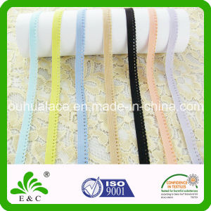 Customized Color Picot Edge Knitted Elastic Ribbon