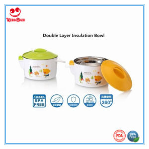 New Design Warming Baby Feeding Bowl in Double Layers pictures & photos
