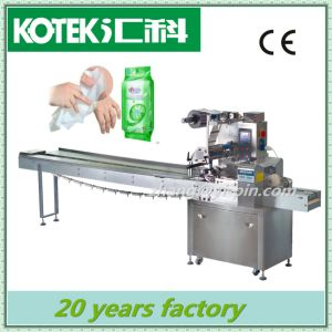 Wet Wipes Making Machine Automatic Wet Wipes Flow Package Machinery pictures & photos