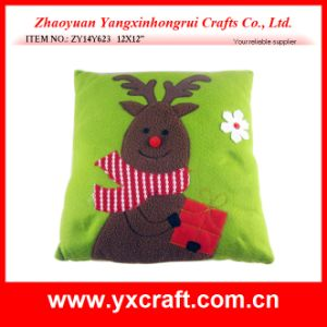 Christmas Decoration (ZY14Y623 12X12′′) Christmas Back Cushion Reindeer Cushion Gift pictures & photos