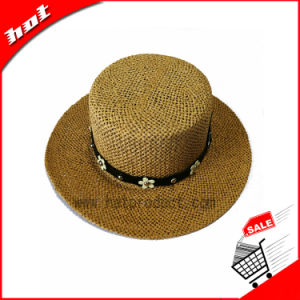 Paper Straw Sun Hat Floppy Panama Hat pictures & photos