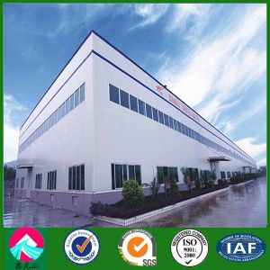 Prefabricated Light Steel Structure Workshop Building with Parapet Wall (XGZ-SSW001) pictures & photos
