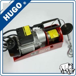 220V Mini Electric Wire Rope Hoist Winch pictures & photos