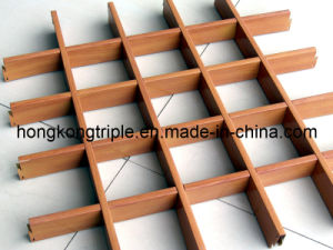 Customized Aluminum Wood Design Grid Ceiling Series