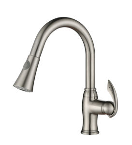 Cupc PVD Finished Pull out Kitchen Sink Faucet pictures & photos