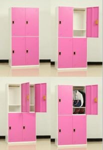 Staff Use Nice Color 4 Compartment Metal Storage Locker pictures & photos