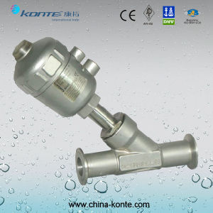 2000y-J684f-16r Stainless Steel Pneumatic Clamp Angle Seat Valve with Ss Head Ss304 Ss316 pictures & photos