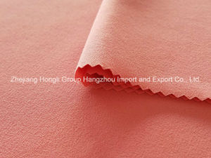 Four-Way Polyester Spandex Moss Crepe Chiffon Fabric for Women′s Dress pictures & photos