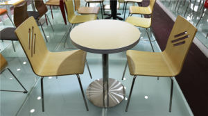 China Commercial Furniture Round Plywood Table and Chair (FOH-CXSC59) pictures & photos