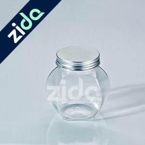 Clear Plastic Jar for Food, Empty Round Wide Mouth Plastic Fruit Bottle pictures & photos