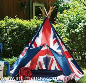 Cotton Flag Indian Pentage Teepee Kids Playing Tent (MW6015) pictures & photos