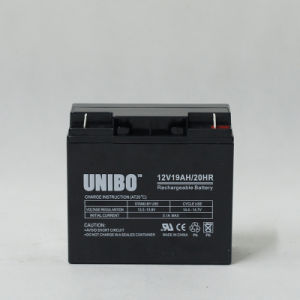 Solar Battery 12V19ah High Quality Solor System AGM Lead Acid Battery pictures & photos