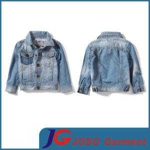 Factory Wholesale Fashion Boy′s Denim Jacket (JT837) pictures & photos