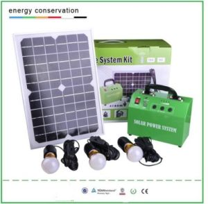 10W Solar Lighting System Kit pictures & photos