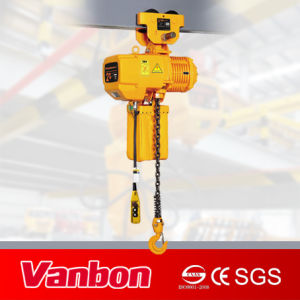 2t Electric Chain Hoist with Manual Trolley pictures & photos