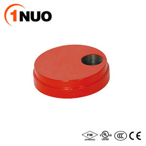 1nuo Factory Grooved Fittings Ductile Iron Cap with Eccentric Hole pictures & photos