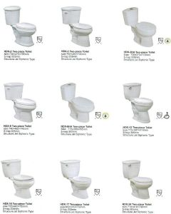 Ceramic Sanitary Ware, Bathroom, Two-Piece Toilet
