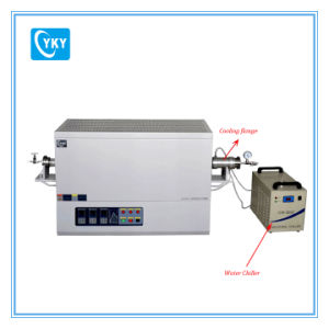 Laboratory 1200c Heat Treatment Three Zone Tube Furnace with Water Cooling Flange-CY-T1200-50IIIC pictures & photos