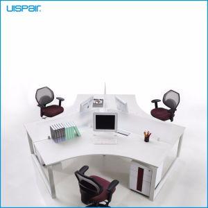 Uispair Modern High Quality MFC Board Telescopic Beam Cross Shape Staff Office Desk Workstation pictures & photos
