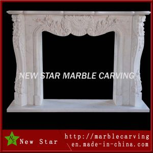 White Marble Fireplace Mantel Fireplace Surround pictures & photos