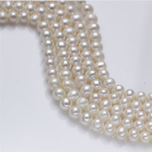 8-9mm AA Natural Freshwater off Round Pearl Strand pictures & photos