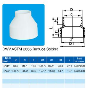 NSF Certificate ASTM Dwv D2665 Reducer Socket pictures & photos
