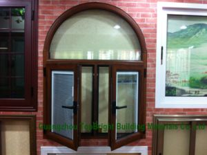 Aluminium Double Glazed Casement Windows with Blinds pictures & photos