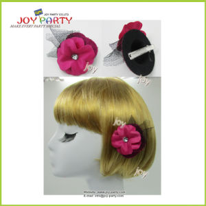 Hot Pink Hairpin with Flower