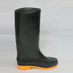 Work Rain Boots (Black upper/Yellow Sole) pictures & photos