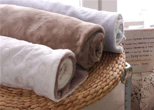 Super Soft Embossed Short Plush Blanket