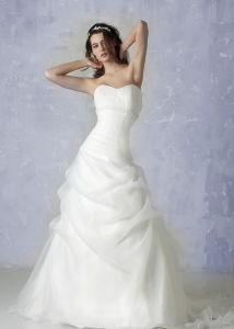 Fashion Sweetheart Organza a-Line Bridal Gown (C5097)