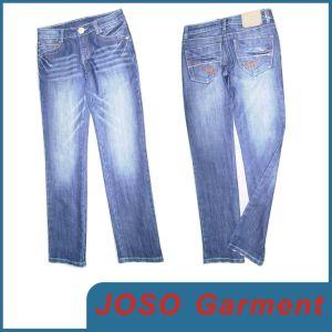 Ladies Blue Fashionable Jeans (JC1029) pictures & photos