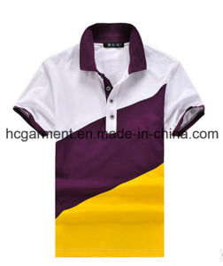 Design Printed Combination Strip Cotton Polo Shirt for Man/Women pictures & photos