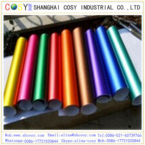 New Product 1.52*20m with Air Bubble Blue Matte Chrome Vinyl Heat Color Changing Vinyl pictures & photos