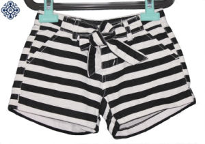 Girls Fashion Striped Printed Twill Shorts (CPT-06)