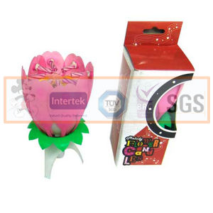 Rotating Flower Music Candle for Sale pictures & photos