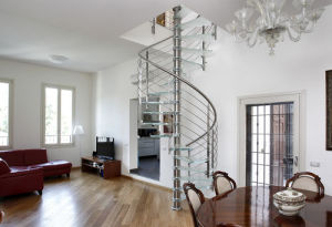 Contemporary Glass Spiral Staircase Designs pictures & photos