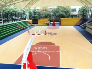 Innovation Wood Grain Basktaball Court Coating System pictures & photos
