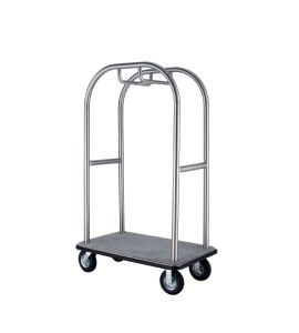 Sand Grain Steel Luggage Trolley for Hotel Lobby pictures & photos