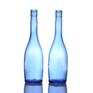 500ml Spirit Glass Bottle with Blue Color pictures & photos
