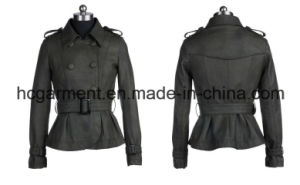 Fashion Punk PU Jackets for Lady/Women, Leather Coat pictures & photos