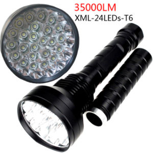 High Brightness Hunting Outdoor Exploration 35000 Lm 24X CREE Xml T6 LED Flashlight pictures & photos